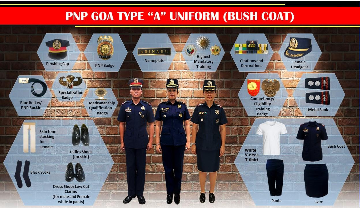 pnp goa type A uniform - bush coat