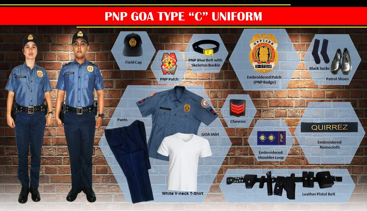 pnp goa type C uniform